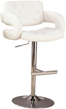 Grant White Adjustable Barstool