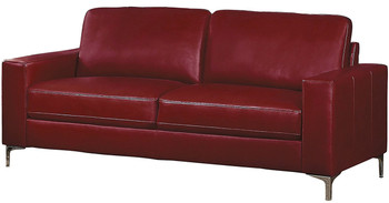 Ceptor Red Leather Gel Sofa