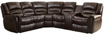 Cameren Dark Brown Bonded Reclining Sectional Right Console