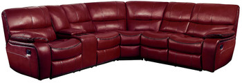 Tron Red 3-PC Reclining Sectional