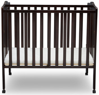 Portababy Dark Brown Crib With Mattress