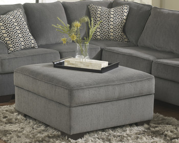 Lillian Gray Storage Ottoman