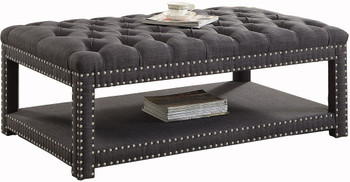 Mero Dark Gray Wide Bench