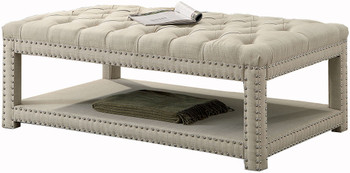 Mero Beige Wide Bench