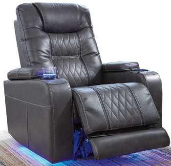 Cosmo Dark Grey Lighted Powered Recliner