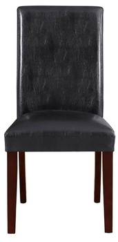Arly Black Leatherette Dining Chair