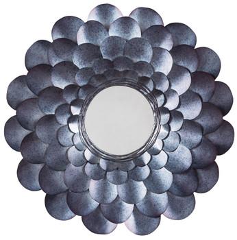 Flower Blue Accent Mirror