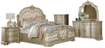 Barbara Champagne Upholstered Bedroom Set
