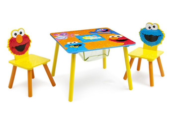 Sesame Street Puzzle Table & Chair Set with Storage