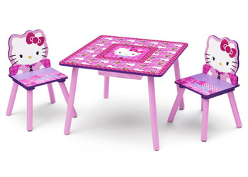Hello Kitty Table & Chair Set with Storage