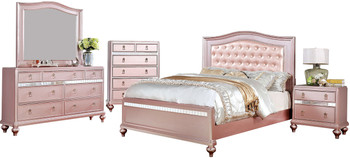 Aubriana Rose Gold Bed