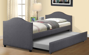 Ara Gray Twin Bed with Trundle