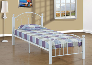 Beacan White Bed