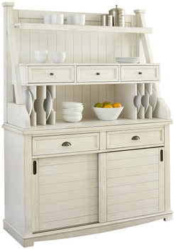 Sonya Antique White Buffett & Hutch