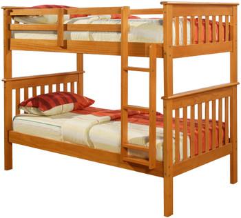 Derik Light Brown Twin Bunk Bed