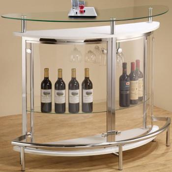 Mies White Glass Top Bar Unit
