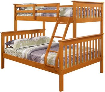 Derik Light Brown Twin over Full Bunk Bed