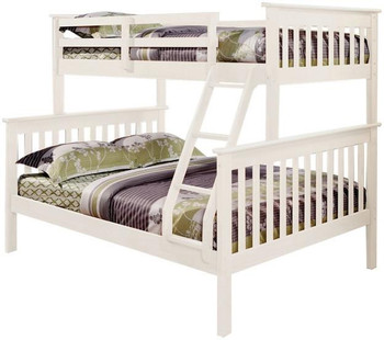 Derik White Twin over Full Bunk Bed