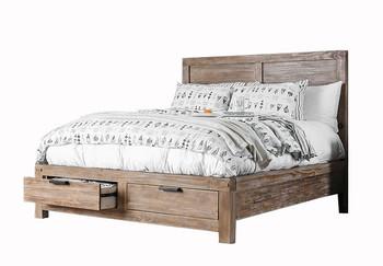 Halden Light Oak Bed