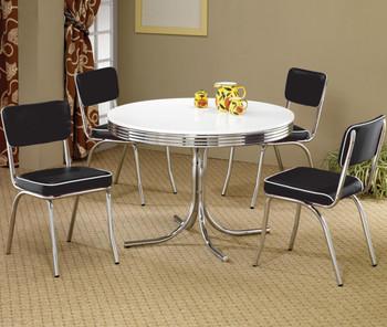 Bel Air Black 5-PC Round Dining Set
