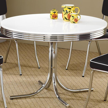 Bel Air Red 5-PC Round Dining Set