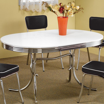 Bel Air Black 5-PC Oval Dining Set