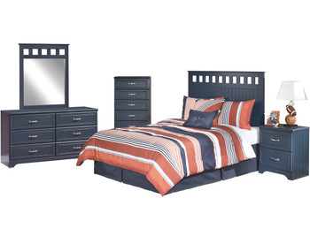 Elli Blue Headboard Bedroom Set