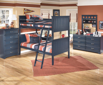 Elli Blue Bunkbed Bedroom Set