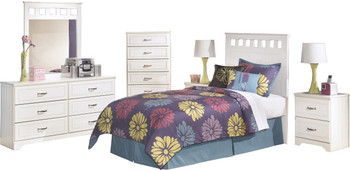 Elli White Headboard Bedroom Set