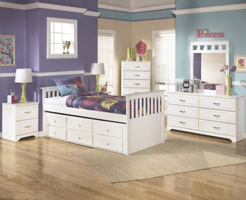 Elli White Captain Bed Bedroom Set
