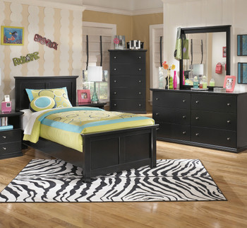 Lucia Black Youth Bedroom Set