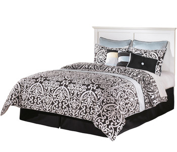 Lucia White Youth Headboard Bed