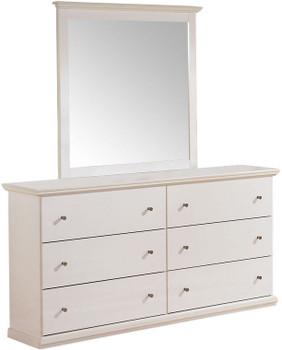 Lucia White Dresser & Mirror