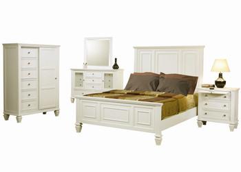 Lozano White Panel Bed