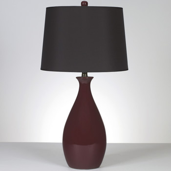 "Jemma Deep Red 29.25""H Table Lamp"