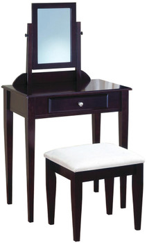 Paula Brown Vanity with Stool