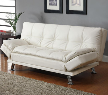 Odell White Adjustable Sofa Bed