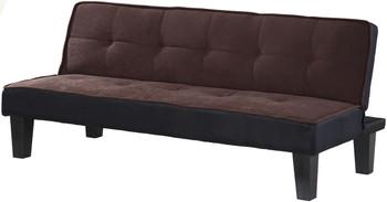 Sentials Chocolate Adjustable Sofa Bed