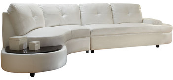 Luzano Sectional with Built-In Table