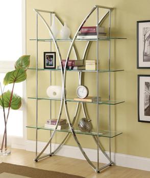 Tina Chrome Cabinet 4 Shelves