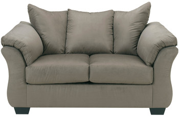 Edeline Gray Plush Loveseat