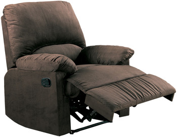 Ethan Chocolate Glider Recliner
