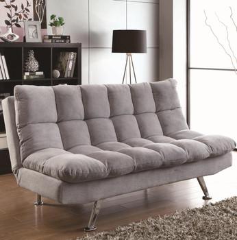 Gerrard Grey Teddy Bear Fabric Sofa Bed