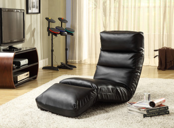 Austin Black Leather Lounge Chair