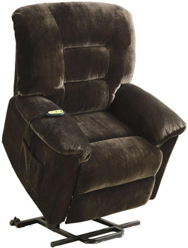 Alfred Chocolate Textured Velvet Power Lift Recliner Chair