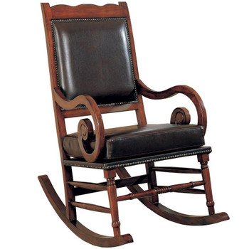 Raleigh Walnut Upholstered Rocking Chair