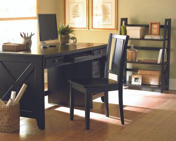 Trinity Black Solid Wood Writing Desk