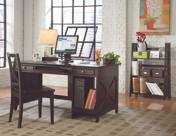 Trinity Expresso Solid Wood Writing Desk