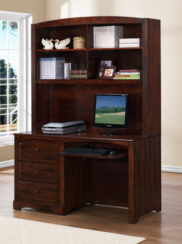 Elias Expresso Finish Desk and Desk Hutch