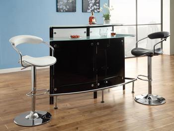 Jesse Black/Chrome Bar Table